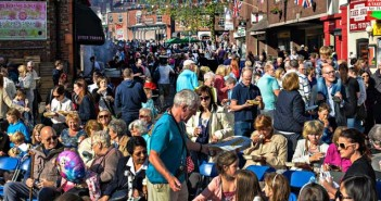 Crowds at the popular Lymm Food fest