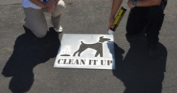 Dog Fouling Week Floor Stencilling June 2015 (12)WEB