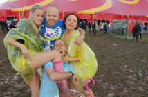 Fans at a previous - and rather muddy - Creamfields