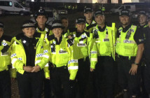 The Creamfields Cops team as pictured on @CreamfieldsCops