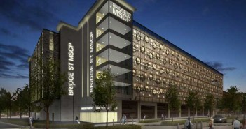 A CGI of the proposed new multi-storey car park