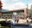 A CGI of the proposed new look Warrington Market