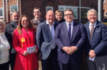 Labour deputy leader Tom Watson with candidates and councillors councillors