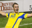 Jay McCarten celebrates Warrington's second goal - Picture John Hopkins